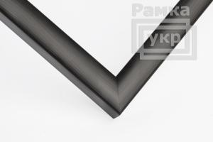 Рамка А4 пластиковая, цвет - дерево венге темное, профиль - квадрат 14 мм
