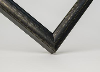 Рамка А4 пластиковая цвет - темное дерево золотые искры, профиль - квадрат 13 мм
