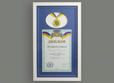 Диплом и медаль
