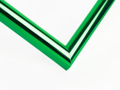 Рамка А4 пластиковая, цвет-зеленый металлик, профиль-полукруглый 14мм