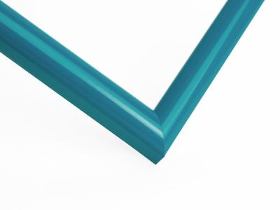 Рамка А4 пластиковая, цвет - бирюзовый глянцевый, профиль - полукруглый 14 мм