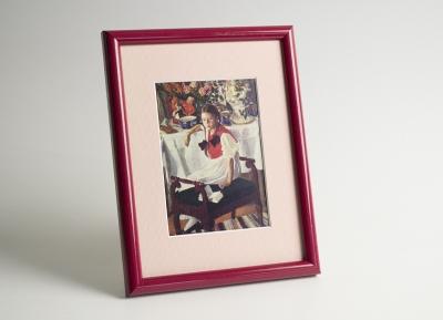 Рамка А4 пластиковая, 14 мм, цвет - красный глянец