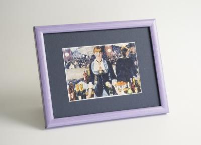 Рамка А4 пластиковая, цвет - сиреневая пастель, профиль - квадрат 13 мм
