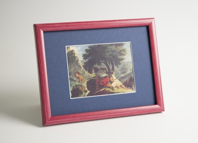 Рамка А4 пластиковая, цвет - красная пастель, профиль - квадрат 13 мм