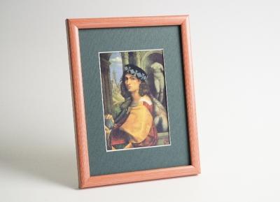 Рамка А4 пластиковая, цвет - оранжевая пастель, профиль - квадрат 13 мм