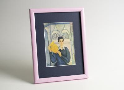 Рамка А4 пластиковая, цвет - розовая пастель, профиль - квадрат 13 мм