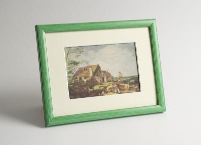 Рамка А4 пластиковая, цвет - зелёная пастель, профиль - квадрат 13 мм