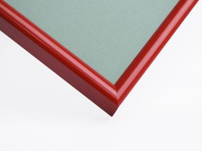 Рамка А4 (21x30) алюминиевая, ширина - 11 мм, цвет - красный глянцевый