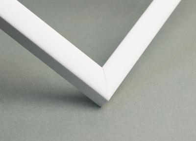 Рамка А4 пластиковая цвет -белый, профиль - квадрат 13 мм
