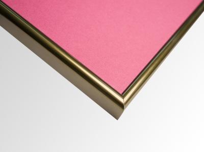 Рамка А4 пластиковая, цвет - старая бронза, профиль - квадрат 14 мм