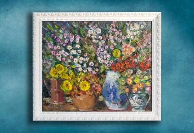 Кувшины с цветами