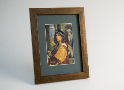 Рамка A4 пластиковая, цвет - дерево бронза, профиль - квадрат 22 мм