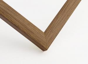Рамка пластиковая цвет - светло коричневое дерево матовая, профиль - квадрат 14 мм