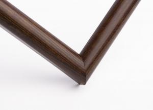 Рамка А4 пластиковая, цвет - дерево темно-коричневое, профиль - полукруглый 14 мм