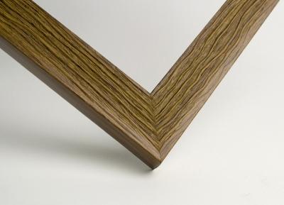 Рамка А4 пластиковая, цвет дерево фактурное бурое, профиль - квадрат 22 мм