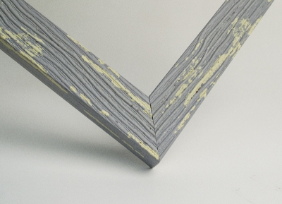 Рамка А4 пластиковая, цвет дерево фактурное серо-голубое, профиль - квадрат 22 мм