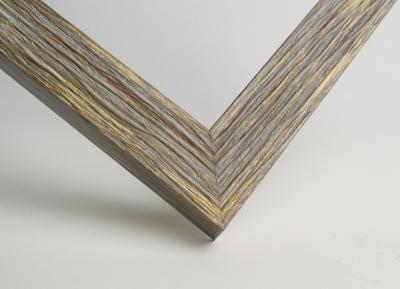 Рамка А4 пластиковая, цвет замшелое дерево фактурное, профиль - квадрат 22 мм