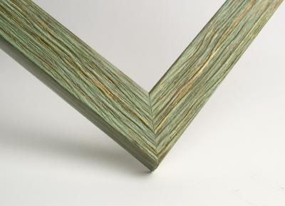 Рамка А4 пластиковая, цвет фактурное дерево зеленое, профиль - квадрат 22 мм