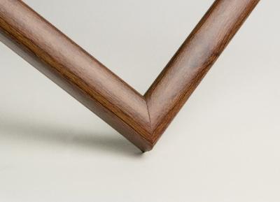 Рамка А4 пластиковая цвет - дерево орех, профиль - квадрат 13 мм
