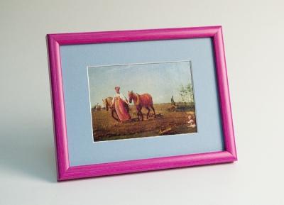 Рамка А4 пластиковая, цвет - малиновая пастель, профиль - квадрат 13 мм