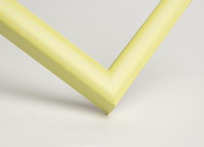 Рамка А4 пластиковая, цвет - желтая пастель, профиль - квадрат 13 мм