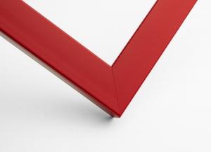 Рамка А4 пластиковая, цвет - красный, профиль - квадрат 22 мм