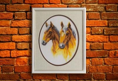 Лошади вышивка