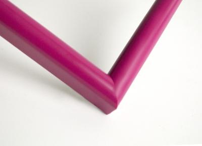 Рамка А4 пластиковая, цвет - малиновый матовый, профиль - полукруглый 14 мм