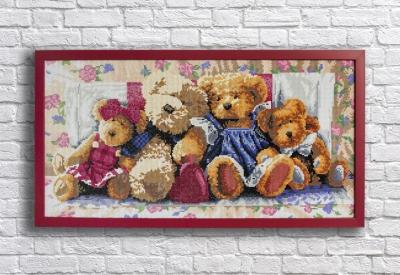 Медведи вышивка