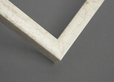 Рамка А4 пластиковая, цвет - белый мрамор, профиль - квадрат 14 мм