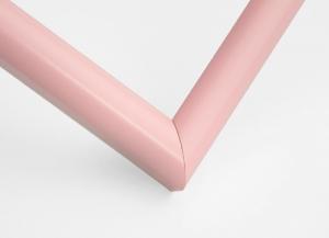 Рамка А4 пластиковая, цвет - нежно-бледно розовый, профиль - полукруглый 13 мм