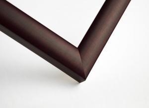Рамка А4 пластиковая, цвет - бордовое дерево, профиль - квадрат 14 мм