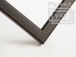 Рамкa A4 деревянная, благородный цвет - венге, строгая, (премиум), профиль - квадрат 16 мм