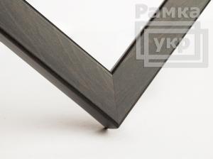 Рамка деревянная А4, благородный цвет - венге, строгая, (премиум), профиль - квадрат 21 мм