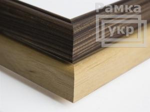 Рамка из натурального дерева А4 светлая