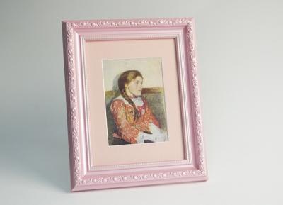 Рамка А4 пластиковая, цвет розовый перламутр, профиль 32 мм