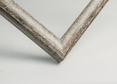 Рамка А4 пластиковая цвет - состаренное серое дерево, профиль - квадрат 13 мм