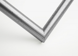 Рамка А4 пластиковая, цвет - серебро состаренное потертое, профиль - полукруглый 13 мм