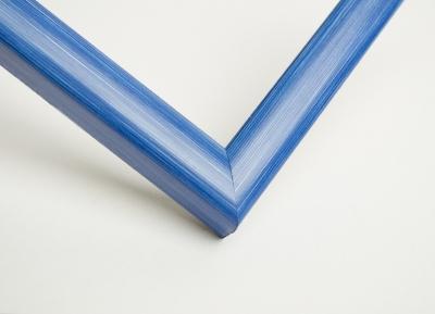 Рамка А4 пластиковая, цвет - синяя пастель, профиль - квадрат 13 мм