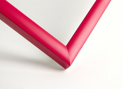 Рамка А4, цвет - красный (тюльпановый) матовый, профиль - квадрат 14 мм