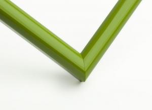 Рамка А4 пластиковая, цвет - салатовый глянцевый, профиль - полукруглый 14 мм