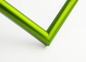 Рамка А4 пластиковая, цвет - салатовый металлик, профиль - полукруглый 14 мм