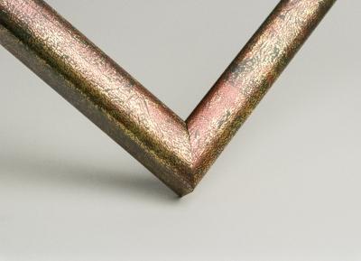 Рамка А4 пластиковая, цвет - золотые брызги, профиль - квадрат 13 мм