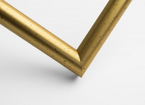 Рамка А4 пластиковая, цвет - золото состаренное потертое,профиль - полукруглый 13 мм