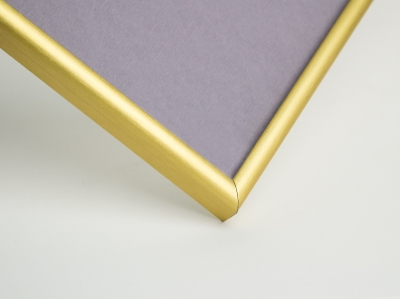 Рамка А4, алюминиевая, ширина - 7 мм, цвет - золото матовое
